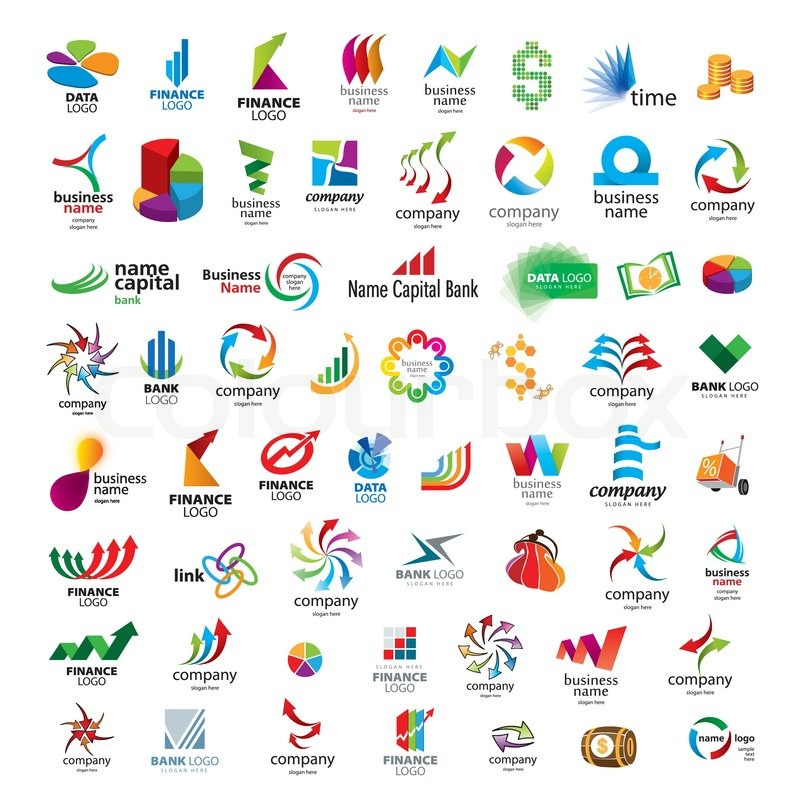Collection of vector icons for banks.