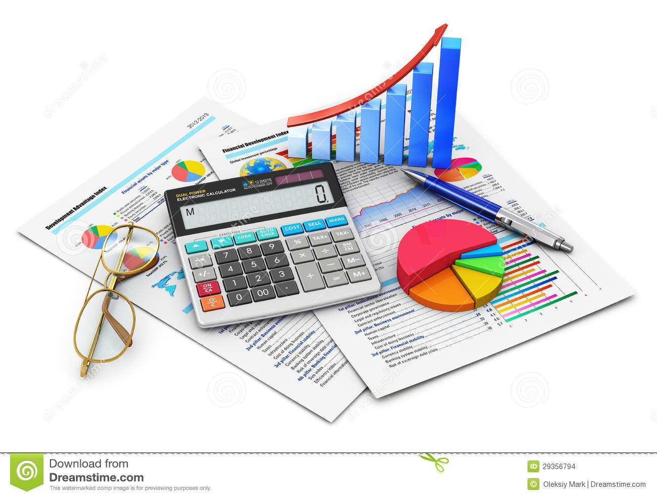 Accounting and finance clipart.