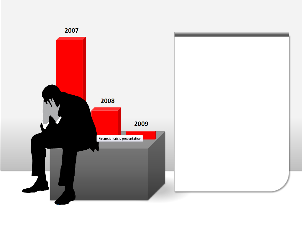 Financial crisis presentation Templates for Powerpoint.