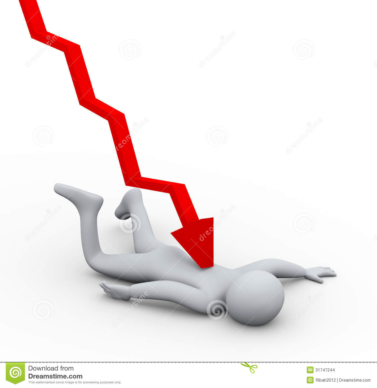 Financial Crisis Headlines Royalty Free Stock Images.
