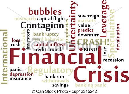 EPS Vector of Financial Crisis word cloud csp12315242.