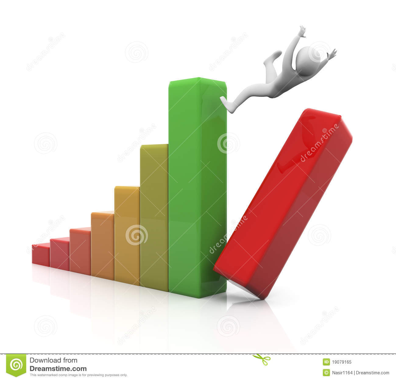 Concept Of Financial Crisis Royalty Free Stock Photo.