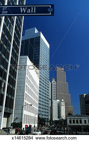 Stock Photo of USA, Georgia, Atlanta, financial district, office.
