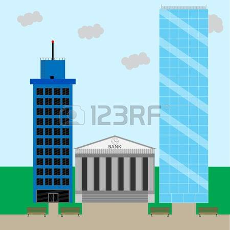1,990 Financial District Stock Vector Illustration And Royalty.