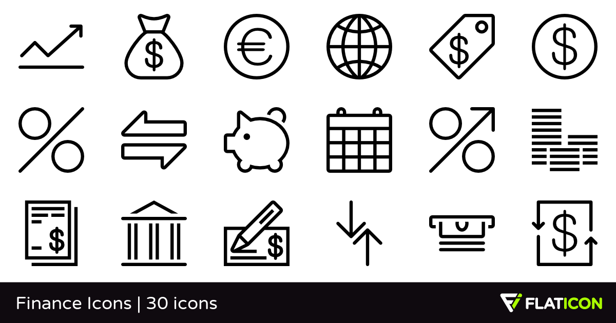 Finance Icons 30 free icons (SVG, EPS, PSD, PNG files).