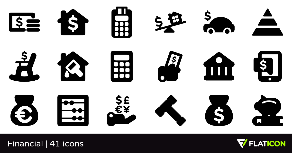 Financial 41 free icons (SVG, EPS, PSD, PNG files).