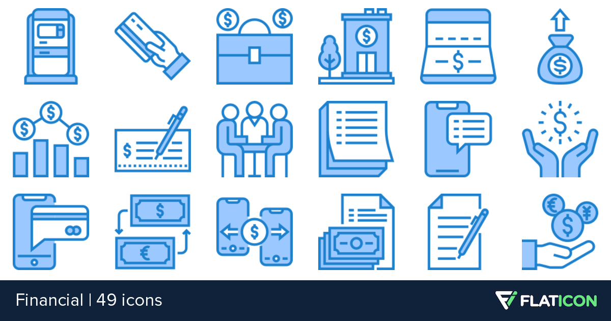Financial 49 free icons (SVG, EPS, PSD, PNG files).