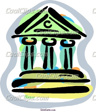 financial institutions Vector Clip art.