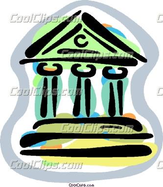 financial institutions Vector Clip art.
