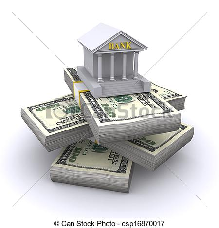 Clipart of bank building.