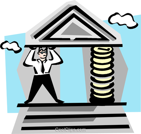 Financial institution clipart.