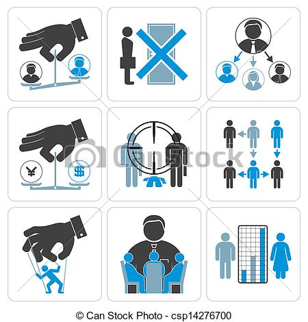 Vector Clipart of Financial, Management and Business Vector Icons.