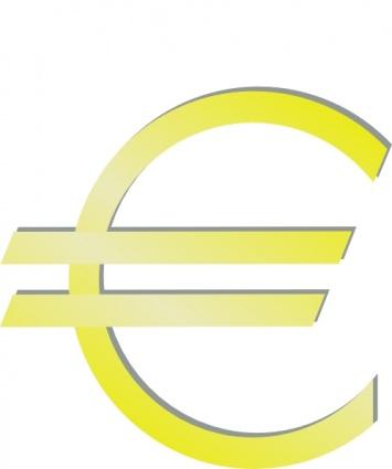 Euro Financial Symbol clip art Clipart Graphic.
