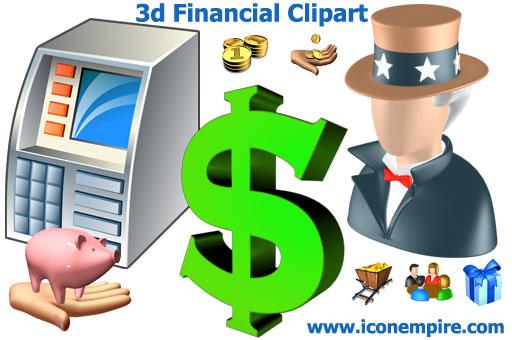 3d Financial Clipart.
