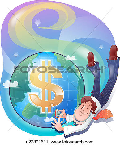 Clipart of The Heartbeat of the Financial World u22891611.