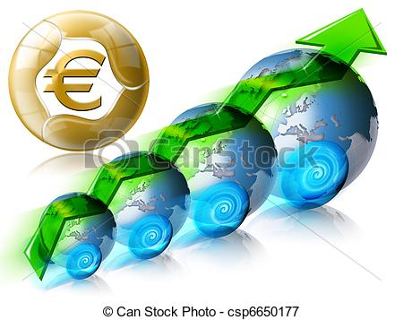 Stock Illustrations of Business & Financial world positive.