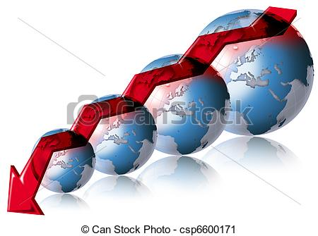 Negative business financial world Clipart and Stock Illustrations.