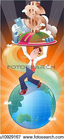 Stock Illustration of Balancing the Financial World u10929167.