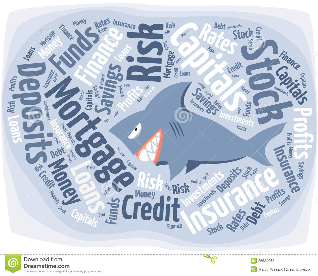 Shark In The Financial World Stock Photography.