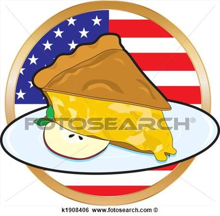 Apple Pie American Flag K1908406 Search Clip Art Drawings Fine Art.