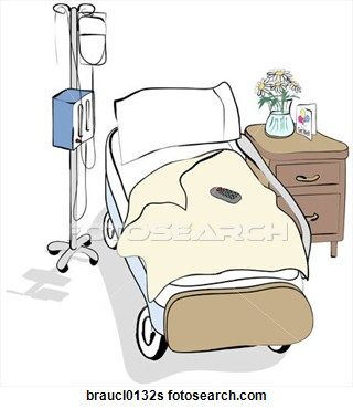 Hospital Patient Clip Art.