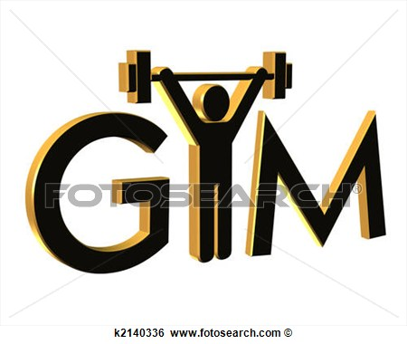 Gym Fitness Logo 3d Fotosearch Search Clip Art Drawings Fine Art.