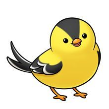Large Blue Bird PNG Cartoon Clipart.