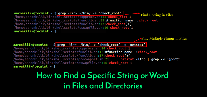 How to Find a Specific String or Word in Files and Directories.
