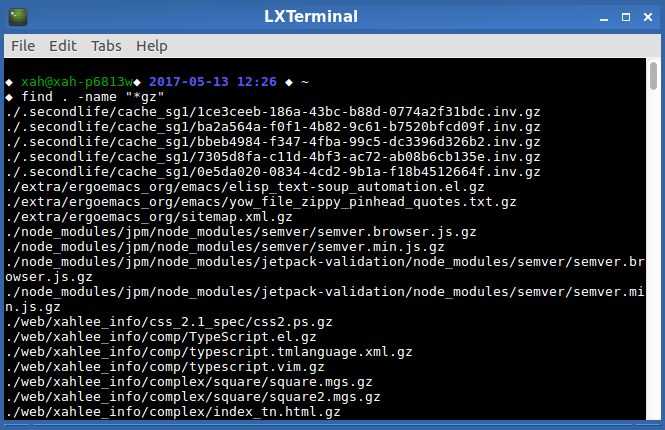Linux: Traverse Directory: find, xargs.
