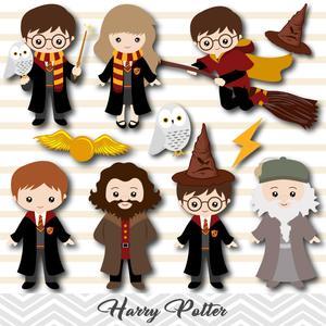 Harry Potter Digital Clipart, Harry Potter Clip Art.