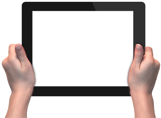 Hands with tablet png #6786.