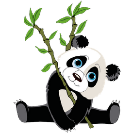 Panda finder clipart free images 2.