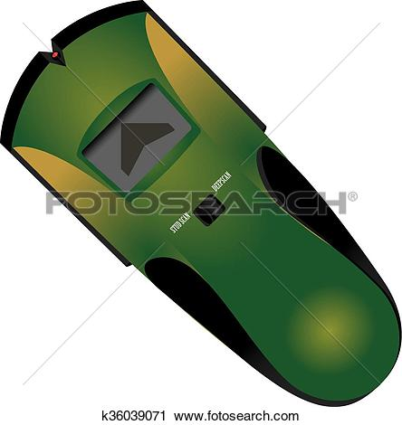 Clipart of Electronic Stud Finder for industrial works k36039071.