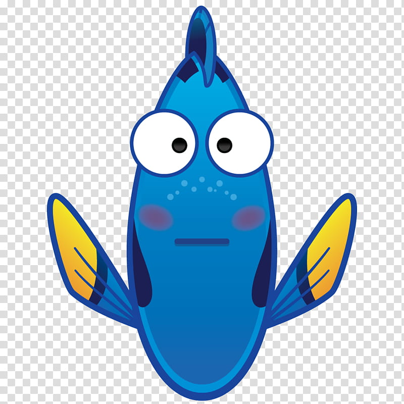 Disney Finding Dory emoji transparent background PNG clipart.