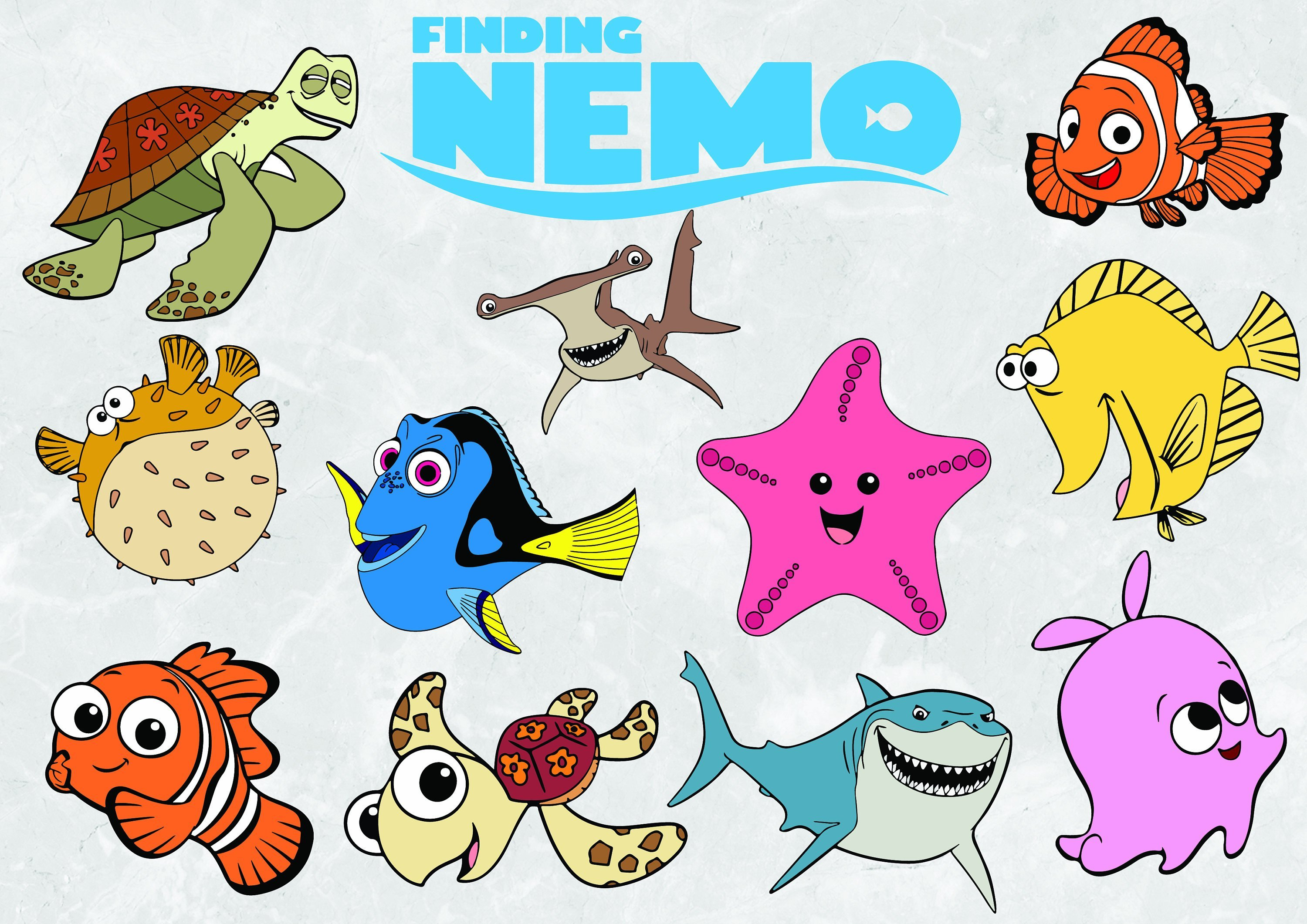 Download Free png Finding nemo clipart 4 » Clipart Portal.