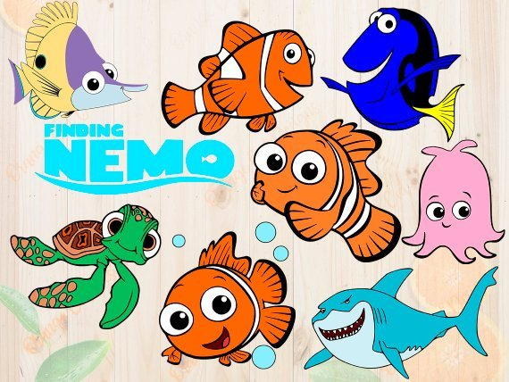 Finding nemo characters clipart 2 » Clipart Portal.