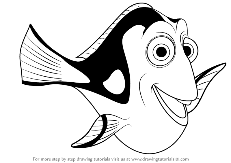 Finding Nemo Black and White Logo.
