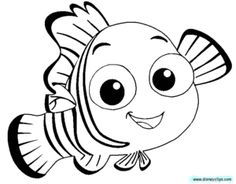 Finding Nemo Clipart Black And White.
