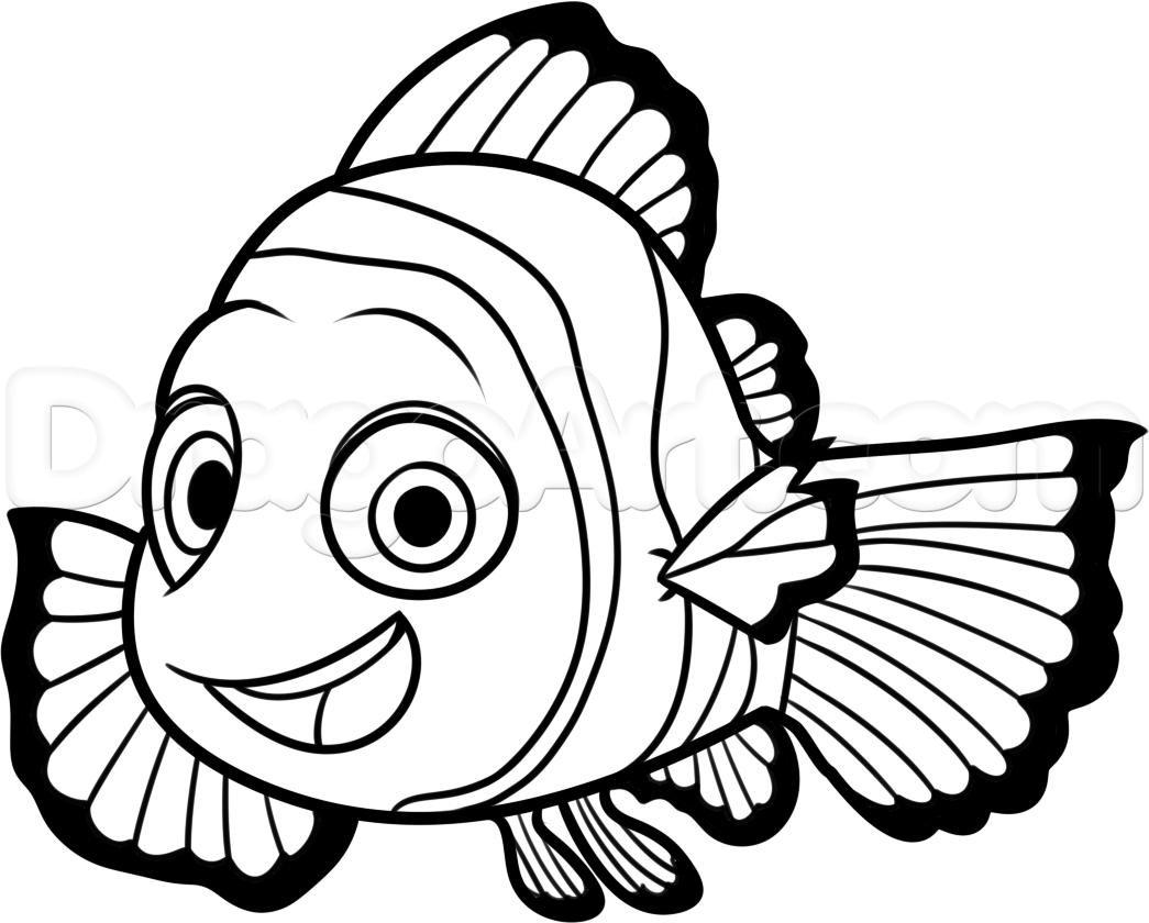 Nemo Fish PNG Black And White Transparent Nemo Fish Black And White.