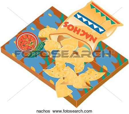 Stock Illustration of Nachos nachos.