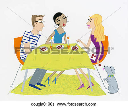 Stock Illustration of Dinner Party dougla0198s.