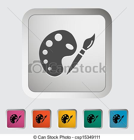 Vector Clip Art of Fine Arts. Single icon. Vector illustration.