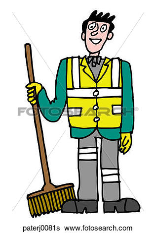 Stock Illustration of Street Sweeper paterj0081s.