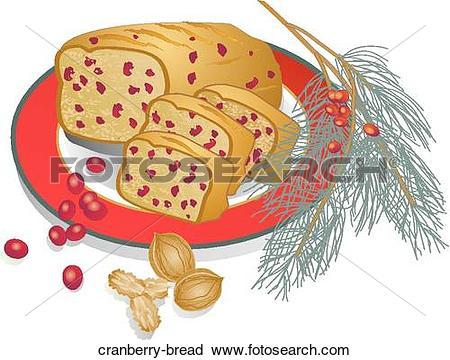 Clipart of Cranberry Bread cranberry.