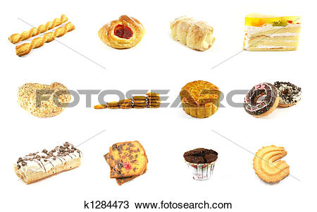 Drawing of Baked Goods Series 5 k1284473.