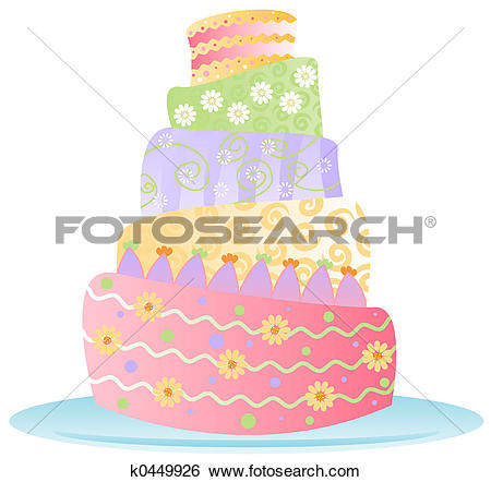 Stock Illustration of Birthday Cake.