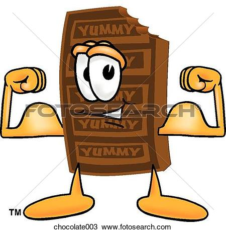 Drawing of Chocolate Flexing Muscles chocolate003.