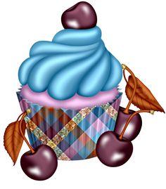 Cherry Cupcake Art <3 #Cherrycake #Cupcake.