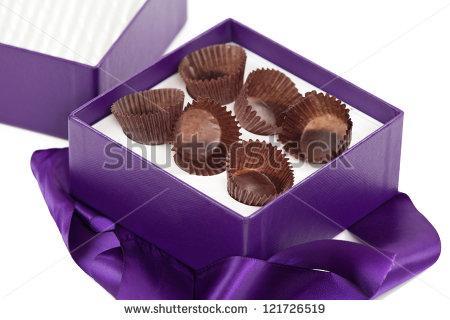 Empty chocolate box clipart.