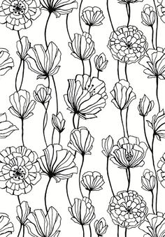 BIG SET! 44 Hand Drawn Flowers clipart, flower element, flower.